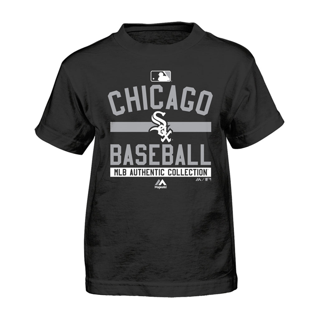 Chicago White Sox Majestic Youth On Field Team Black T-Shirt
