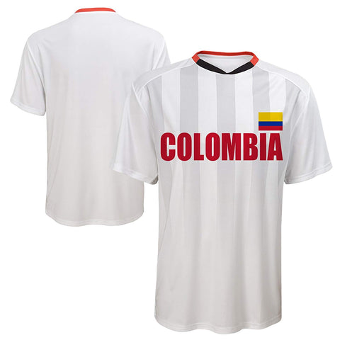 Outerstuff Soccer Columbia Men's Federation White Jersey Short Sleeve Tee