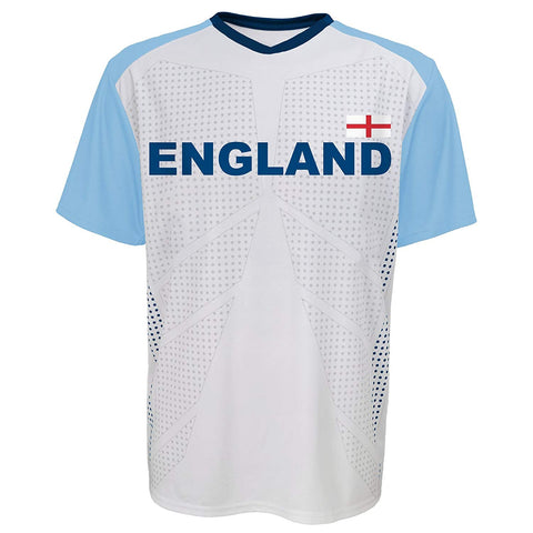 Outerstuff Soccer England Men's Federation White Jersey Short Sleeve Tee