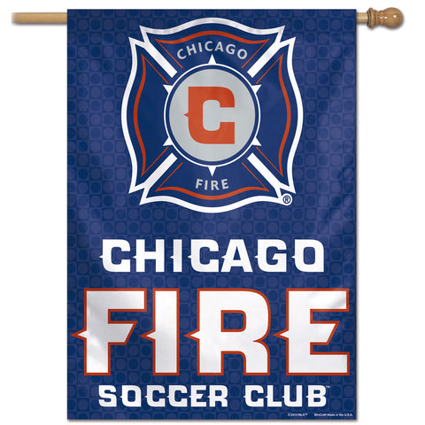 "Chicago Fire MLS Official 28"" x 40"" Vertical Team Flag - Navy"