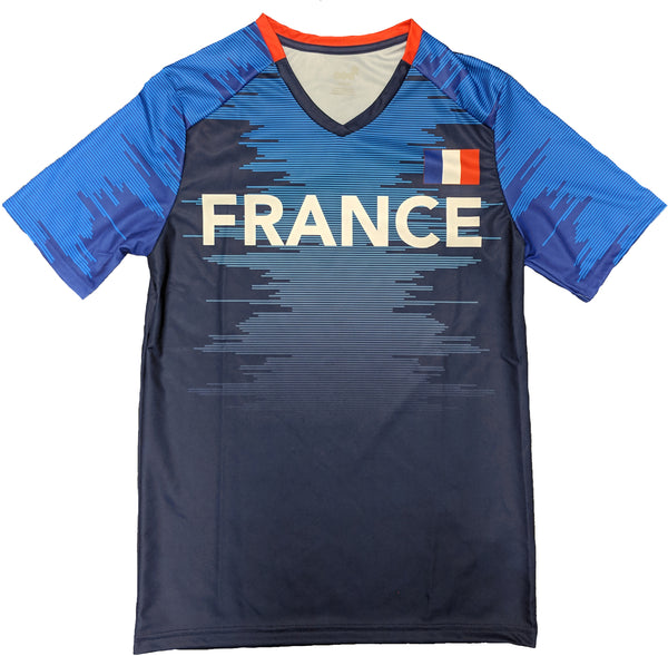 Outerstuff Soccer France Youth Federation Blue Jersey Short Sleeve Tee