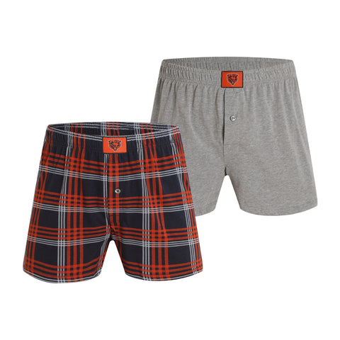 Chicago Bears Playoff Mens 2-pack Boxer