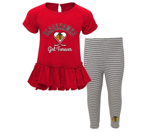 Chicago Blackhawks NHL Infant Girl Forever Tunic and Leggings- 2 Piece