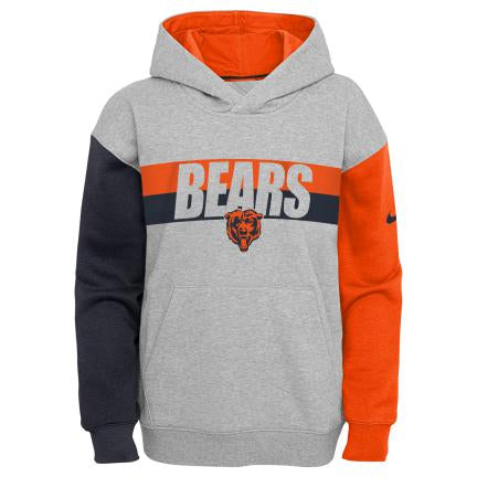 Chicago Bears Youth Nike Heritage Pullover Hoodie - Gray