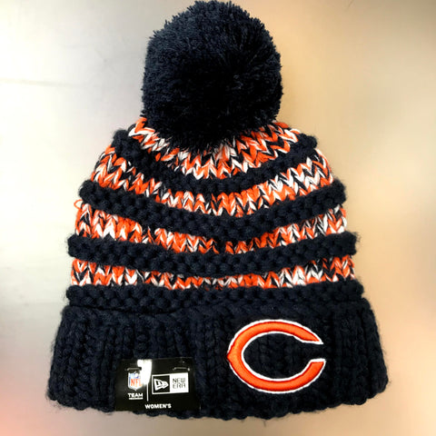 Chicago Bears Women's New Era Knit-Layer Cuffed Knit Hat