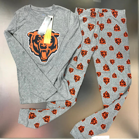 Chicago Bears Youth Pajama 2-Piece Set - Gray
