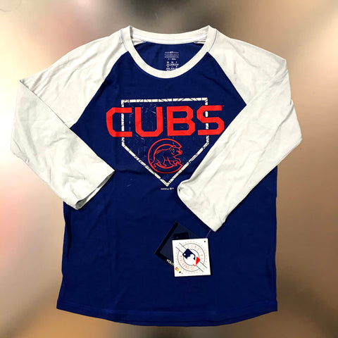 Chicago Cubs Youth Royal Blue Home Plate 3/4 Sleeve T-Shirt