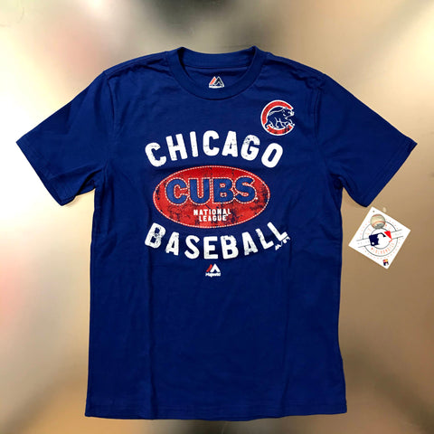 Chicago Cubs Majestic Youth Royal Blue Chicago Baseball T-Shirt