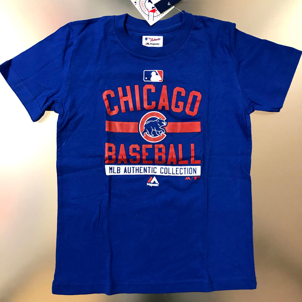 Chicago Cubs Majestic Youth Royal Blue Club T-Shirt