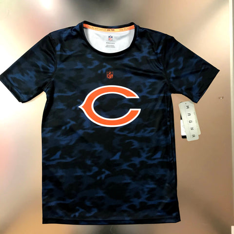 Chicago Bears Youth Camo DRI-TEK Navy T-shirt