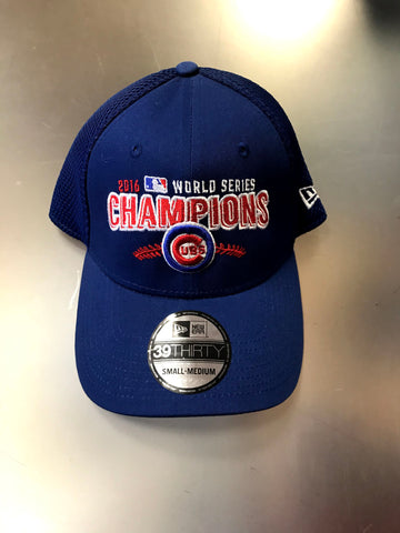 Chicago Cubs Men's New Era 2016 World Series Champs 39THIRTY Mesh Back Hat