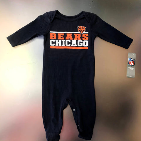 Chicago Bears Infant Coverall Footie Onesie Pajamas - Navy
