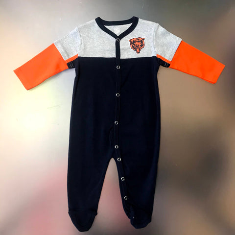 Chicago Bears Infant Footie Onesie Pajamas - Navy