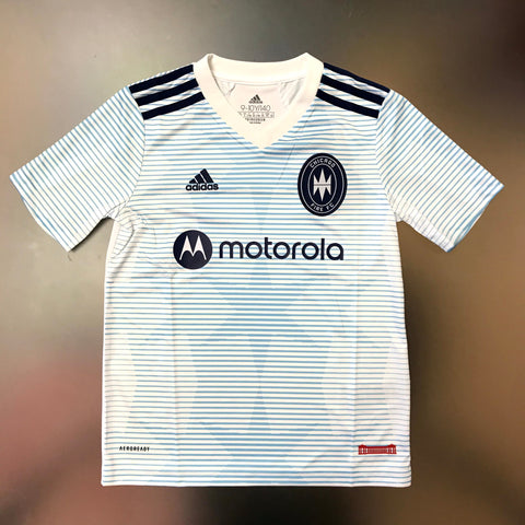 Chicago Fire MLS 2021/22 Youth Replica Away Jersey - White