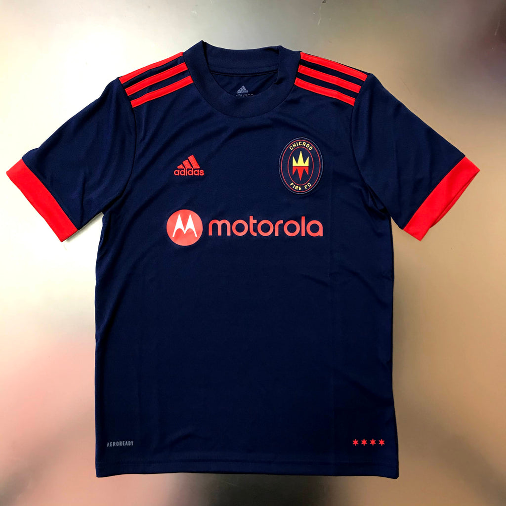 Chicago Fire MLS 2021/22 Youth Replica Home Jersey - Navy