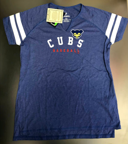 Chicago Cubs MLB Ladies Fanatics V-Neck Cooperstown T-shirt