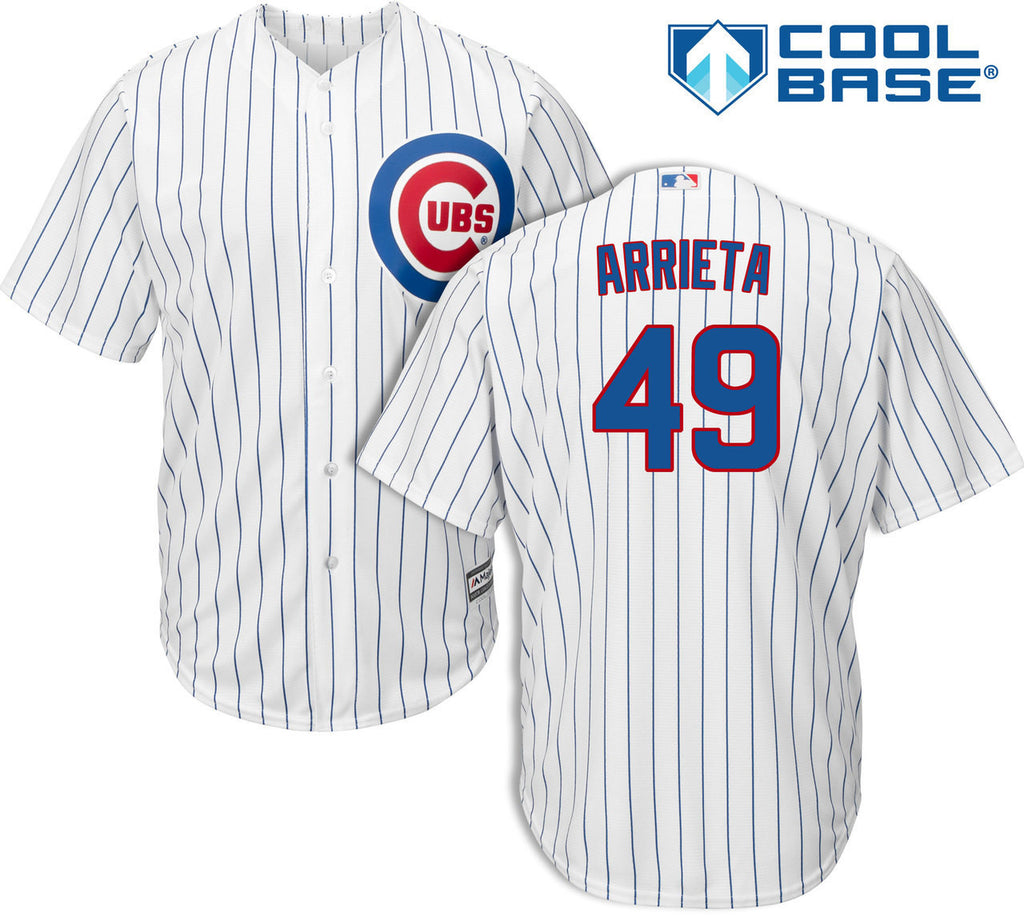 Chicago Cubs Youth Jake Arrieta #49 Majestic Cool Base Printed Jersey - White