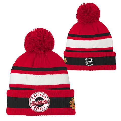 NHL Chicago Blackhawks Youth Legacy Collection NHL Pom Hat