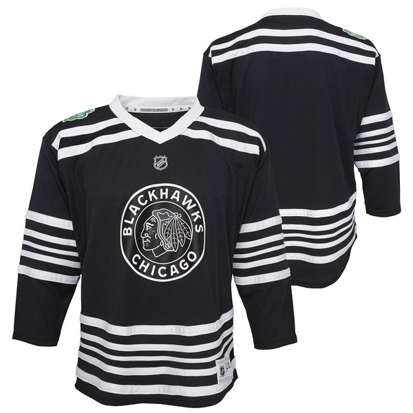 Youth Chicago Blackhawks Plain Black 2019 Winter Classic Authentic Jersey