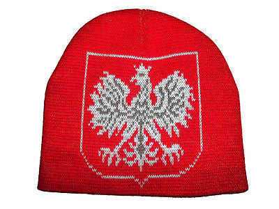Poland Skull Cap Polska Polish Beanie Eagle Hat Hussar One Size Fits Most
