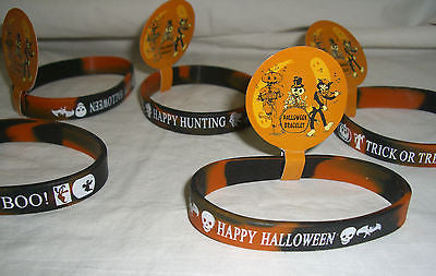 Halloween bracelet x1 rubber one size party single wristband NWT