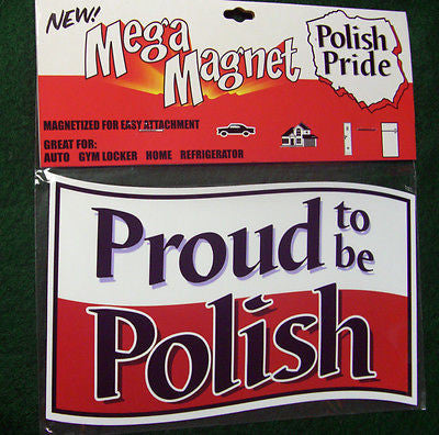 Polish POLAND Mega Magnet Red and White for Refrigerator - Locker Brand New