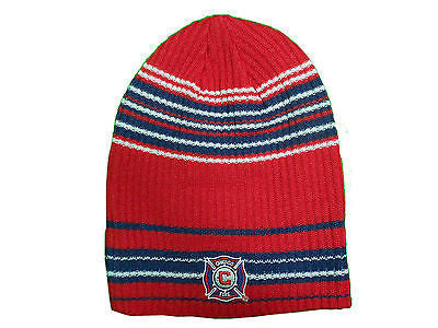 Chicago Fire Knit Skully Hat Adidas Performance MLS Officially Licensed