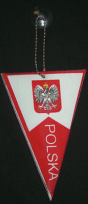 Bulk Of 12 Polish Polska Poland pennant mini NEW suction cup hanging glass  6""