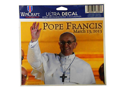 Pope Francis March 13, 2013 Ultra Wincraft Decal Catholic Vatican Bishop of Rome