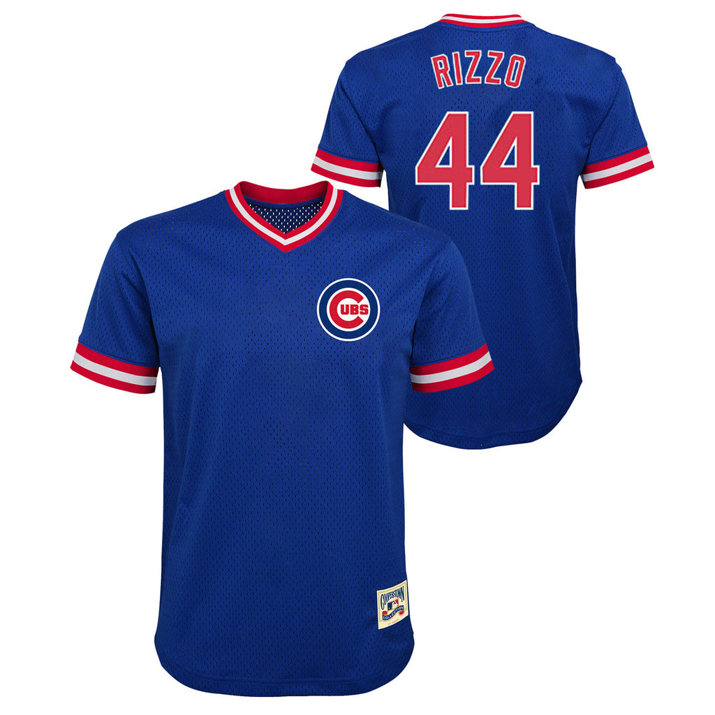low priced 154d9 92247 Chicago Cubs Youth Anthony Rizzo Cooperstown Mesh Replica Jersey
