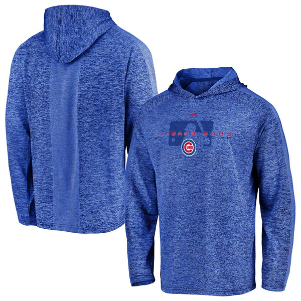 Majestic Chicago Cubs Heathered Royal Authentic Collection Ultra-Light Men's Pullover Hoodie