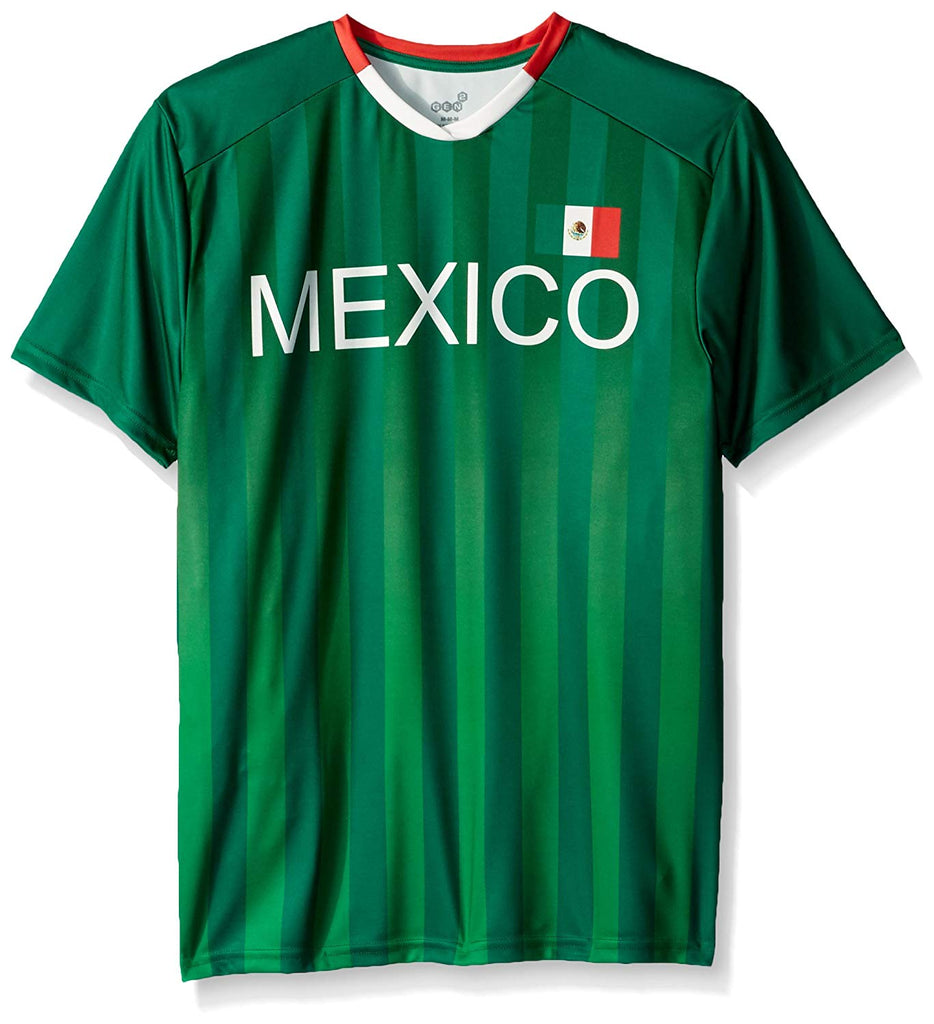 Outerstuff Soccer Mexico Men's Federation Dark Green Jersey Short Sleeve Tee