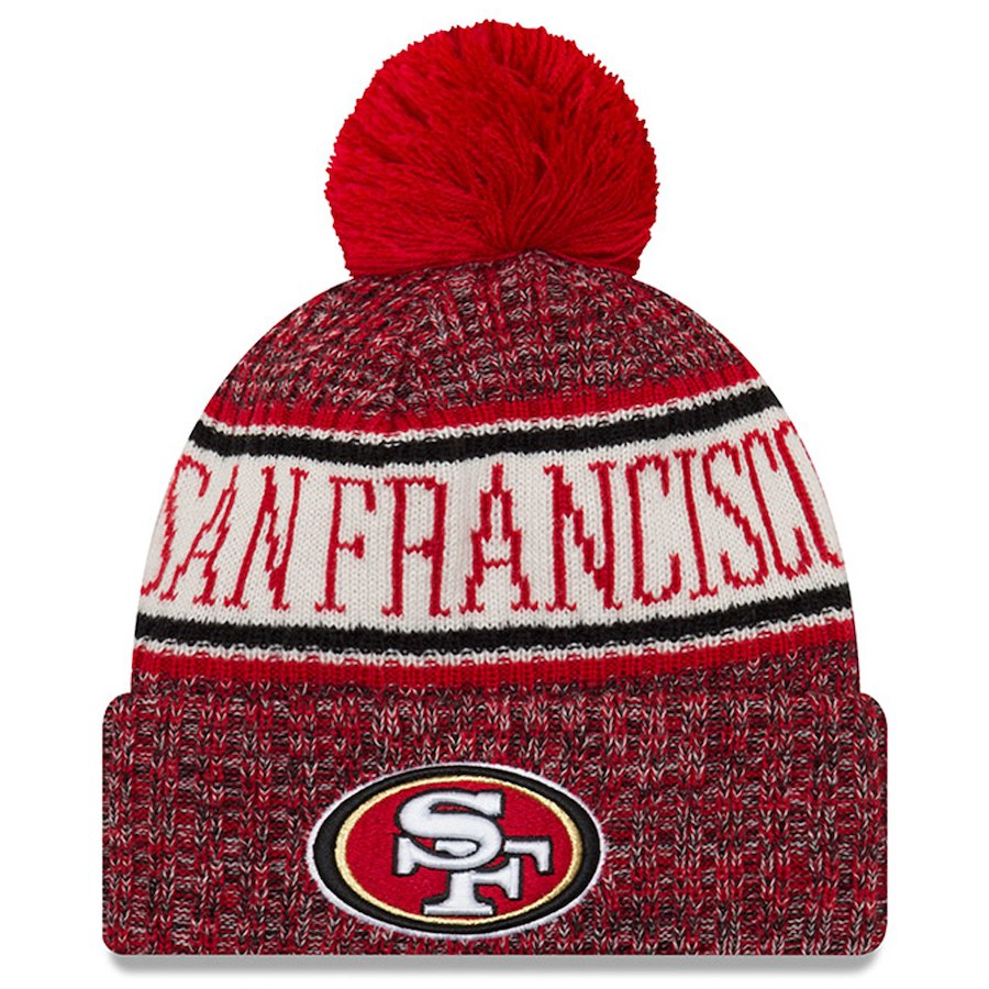 New Era San Francisco 49ers NFL On Field 18 Sport Knit Beanie Beany