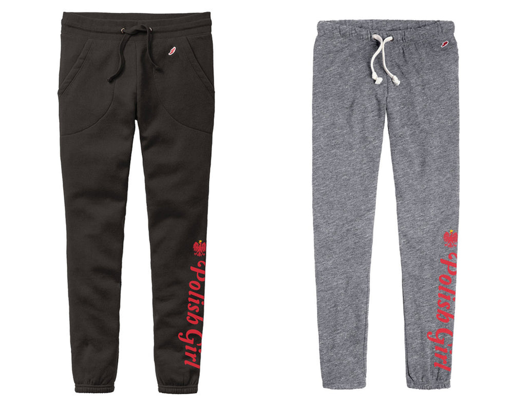 League Sweatpants Joggers Polish Girl with Polish Eagle Polska Poland