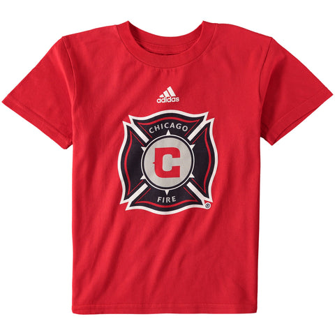 Preschool Chicago Fire MLS adidas Red Primary Logo T-Shirt