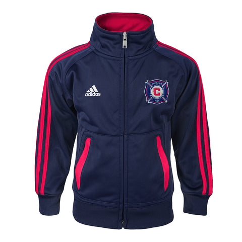 Infant Chicago Fire Soccer Club Referee Track Suit Adidas Jacket and Pants Set