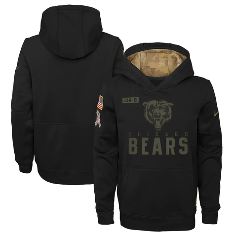Chicago Bears 2020 Salute to Service Youth Hoodie