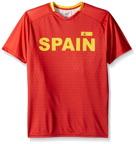 Outerstuff Soccer Spain Men's Federation Red Jersey Short Sleeve Tee