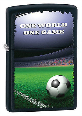 Zippo Lighter Soccer Team Fan Football In Stadium Black Matte 28301 - L11