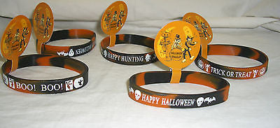 Halloween bracelet set lot x5 rubber one size party bunch wristbands NWT