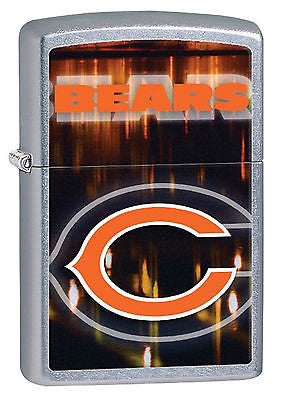Zippo 2014 NFL Official Chicago Bears Street Chrome Lighter 28584 G13