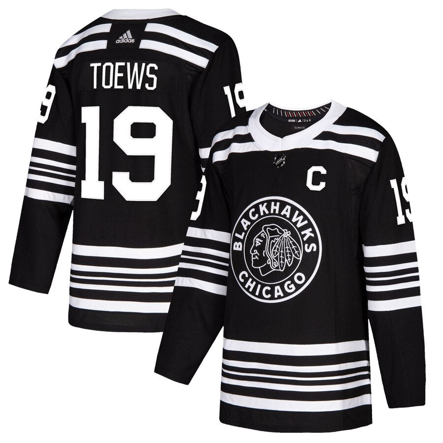 Jonathan Toews Chicago Blackhawks adidas Alternate 2019/20 Authentic Player Jersey – Black