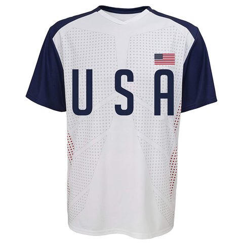 Outerstuff Soccer USA Youth Federation White Jersey Short Sleeve Tee