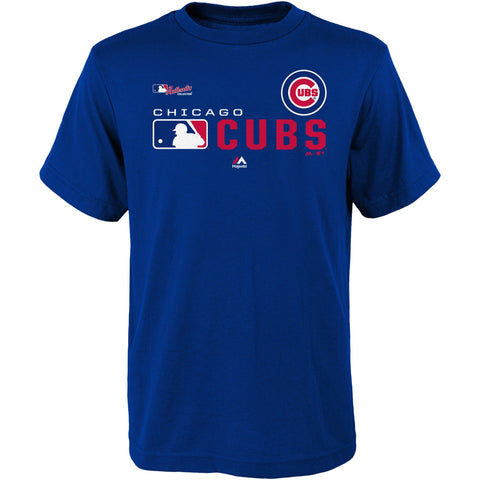 Youth Chicago Cubs Royal Authentic Collection Undefeated T-Shirt