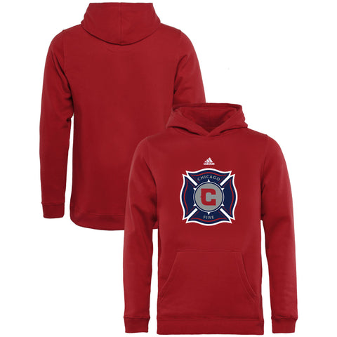 Youth Chicago Fire adidas Red Team Fleece Pullover Hoodie