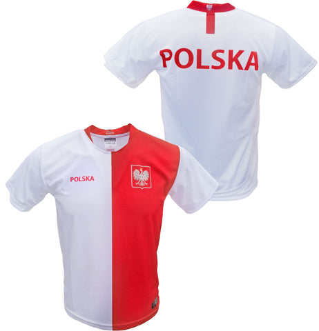 Men's Polska Plain Replica Euro '20 Soccer Jersey Made in Poland - White
