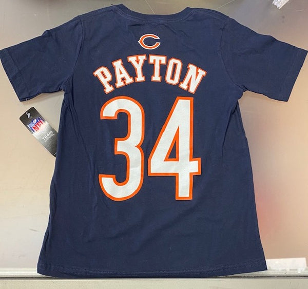 Chicago Bears Youth Payton #34 T-Shirt -Blue
