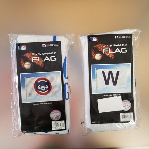 Chicago Cubs 3' x 5' Flags Limited Edition Cooperstown 2 Pack