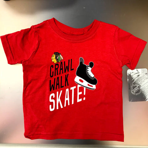 Chicago Blackhawks NHL Crawl Walk Skate Infant T-shirt