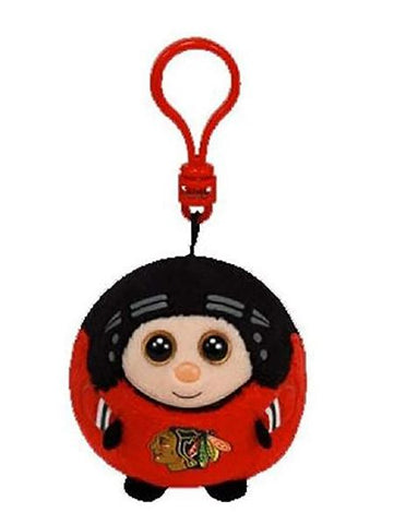 Chicago Blackhawks NHL ty Player Beanie Ballz Key Chain - Red